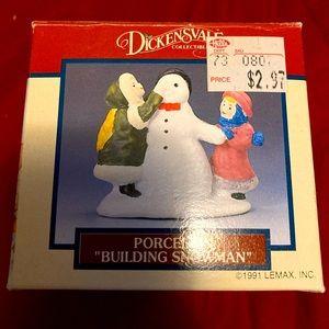 "Dickensvale porcelain ""Building Snowman"""